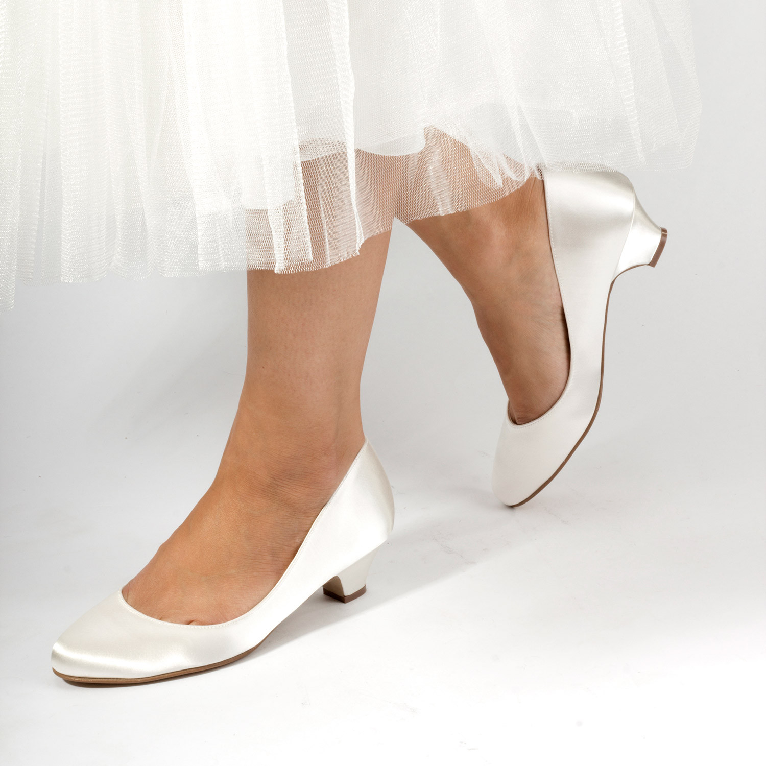 Rosemary Ivory Dyeable Wedding Shoes
